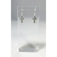 Fixture Displays® Silver Plated Alloy Cross Earring 13284