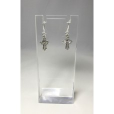 Fixture Displays® Christian Cross Decorative Earring Silver Plated 13292
