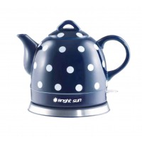 Fixture Displays® Teapot Ceramic Electric Kettle Warm Plate, Blue Polka Dot Decor, Gift, New,13582