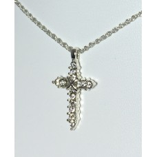 Forever Silver Plated Birthstone Cross Necklace 12 Options14000-APR