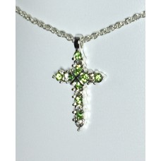 Forever Silver Plated Birthstone Cross Necklace 12 Options14000-AUG