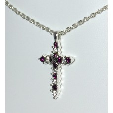 Forever Silver Plated Birthstone Cross Necklace 12 Options14000-FED
