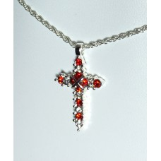 Forever Silver Plated Birthstone Cross Necklace 12 Options14000-JUL