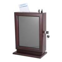 Fixture Displays® Wood Collection Box Suggestion Box Donation Charity Box Fundraising Box 14696