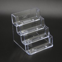 Fixture Displays Four-tier-Business-Card-Holder-200-Capacity Clear Gift Card Holder Prepaid Card 14910