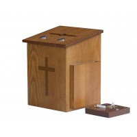 Fixture Displays® Double Lock Comment Collection Suggestion Box Donation Charity Box Prayer Box Tithing 14920