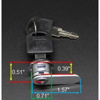 Fixture Displays® Cam Lock For Suggestion Mailbox Donation Box 15211LOCK