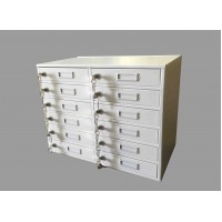 FixtureDisplays 12-Slot Metal iPad/iPhone/Cellphone Locker Cabinet Power Charge Station 15231