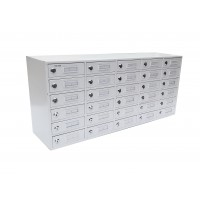 Fixture Displays® 30-Slot Cell Phone iPad Mini Charging Station Lockers Assignment Mail Slot Box 15252