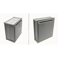 Fixture Displays Adjustable Thickness Through-The-Wall Letter/Payment Locking Drop Box for 4