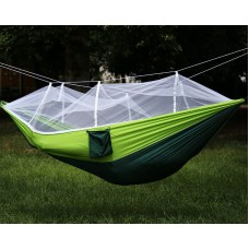 Fixture Displays Portable Double Hammock Jungle Camping with Mosquito Net Outdoor Hanging Sleeping Bed 16117