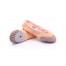 FixtureDisplays Adult Size 7.5 Pink Color Canvas Ballet Dance Shoes Slippers Dance Gymnastics 16125F-38SIZE