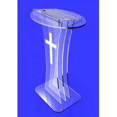 Clear Acrylic Lucite Podium Pulpit Lectern