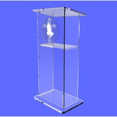 Clear Acrylic Lucite Podium Pulpit Lectern 45