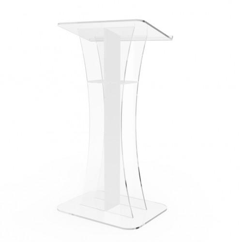 Steel /& MDF Cross Design Podium for Floor Pulpit FixtureDisplays Lectern Silver 119759!