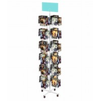 Fixture Displays 6-Tiered Greeting Card Rack for Floor, 72 Pockets, 5.6