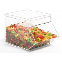 Fixture Displays® 1.5 Gallon Acrylic Candy Bin with Scoop Included 19475