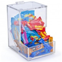 Fixture Displays® Acrylic Candy Dispenser with Lift-Open Top 19476