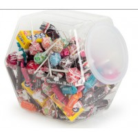 Fixture Displays® 1.7 Gallon Plastic Candy Bins w/ Lift Off Lid, Set of 8 - Clear 19484
