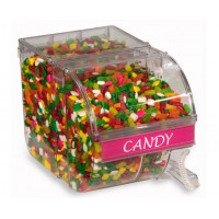 Fixture Displays® 3 Gallon Acrylic Candy Bin w/ Scoop   Label Holder 19489
