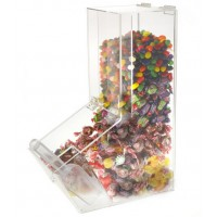 Fixture Displays® 4 Gallon Acrylic Candy Bin w/ Scoop Holder, Magnetic Lid 19490