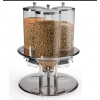 Fixture Displays® Triple Food Dispenser, 2.6 Gallons Each, Portion Control 19511
