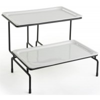 Fixture Displays® 2-Tier Wire Serving Platter w/ (2) 1