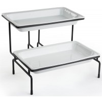 Fixture Displays® 2-Tier Wire Serving Platter w/ (2) 3