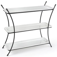 Fixture Displays® 3 Tier Serving Wire Tray with (3) 1
