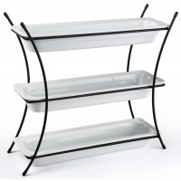 Fixture Displays® 3 Tier Serving Wire Tray with (3) 2.5