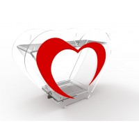 Fixture Displays®Heart Shaped Clear Plexiglass Lucite Acrylic Donation Charity Box Found-raising Box 20708