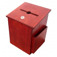 Fixture Displays® Donation Box Suggestion Box Charity Box Ballot Box Fundraising Box Collection Box 6-3/4''W x 9-7/8''H x 6-1/2'' D 1040S