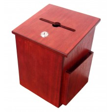 Box, Donation Suggestion Charity Ballot Fundraising Collection 6-3/4''W x 9-7/8''H x 6-1/2'' D 1040 BUDSUGRM