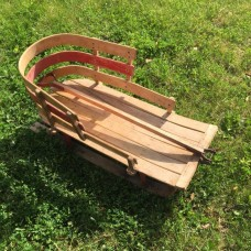 Fixture Displays ANTIQUE VINTAGE WOOD CHILDS METAL DOUBLE RUNNERS SNOW SLEIGH/ SLED, Used
