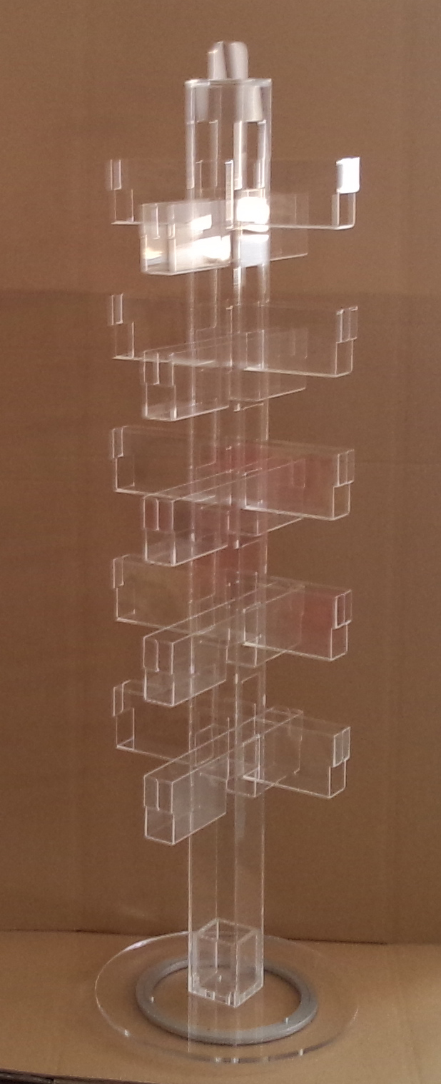 Book Greeting Card Rack Birthday Card Acrylic Clear Display Rotating