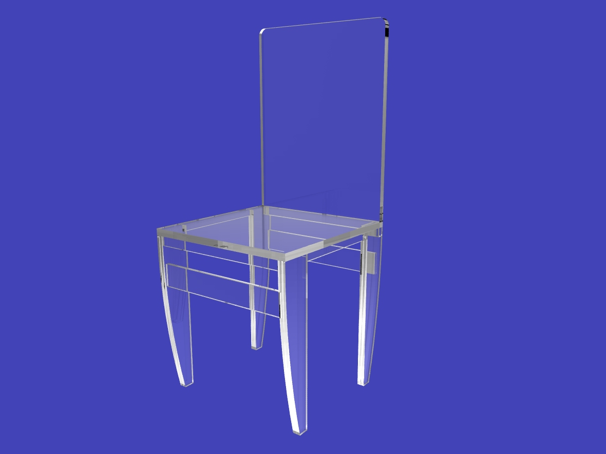 ... Assembled-Clear-Acrylic-Ghost-Lucite-Plexiglass-Perspex-Chairs-10035-3