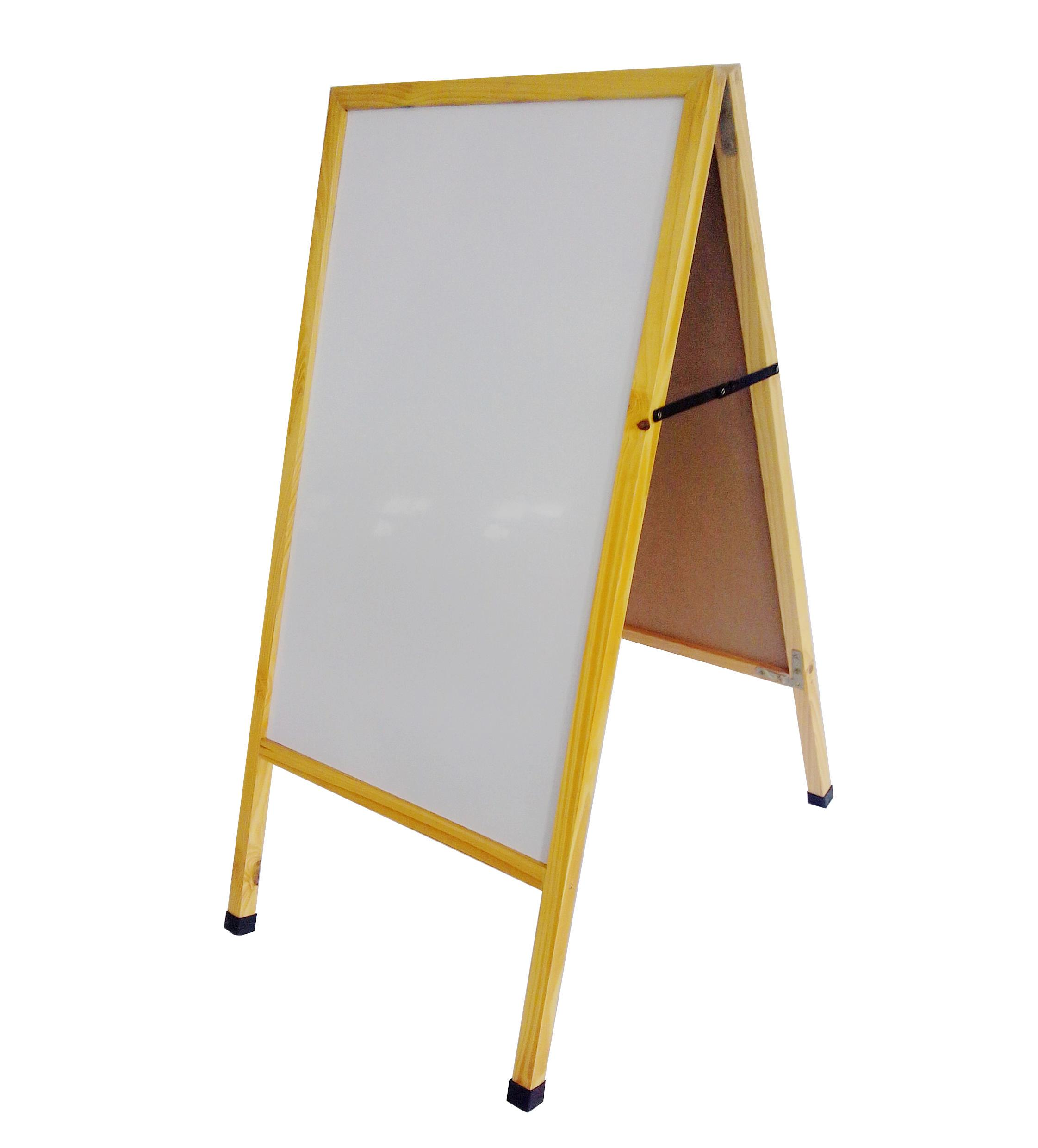 a frame sidewalk sign menu board white dry erase board pavement promotion sign