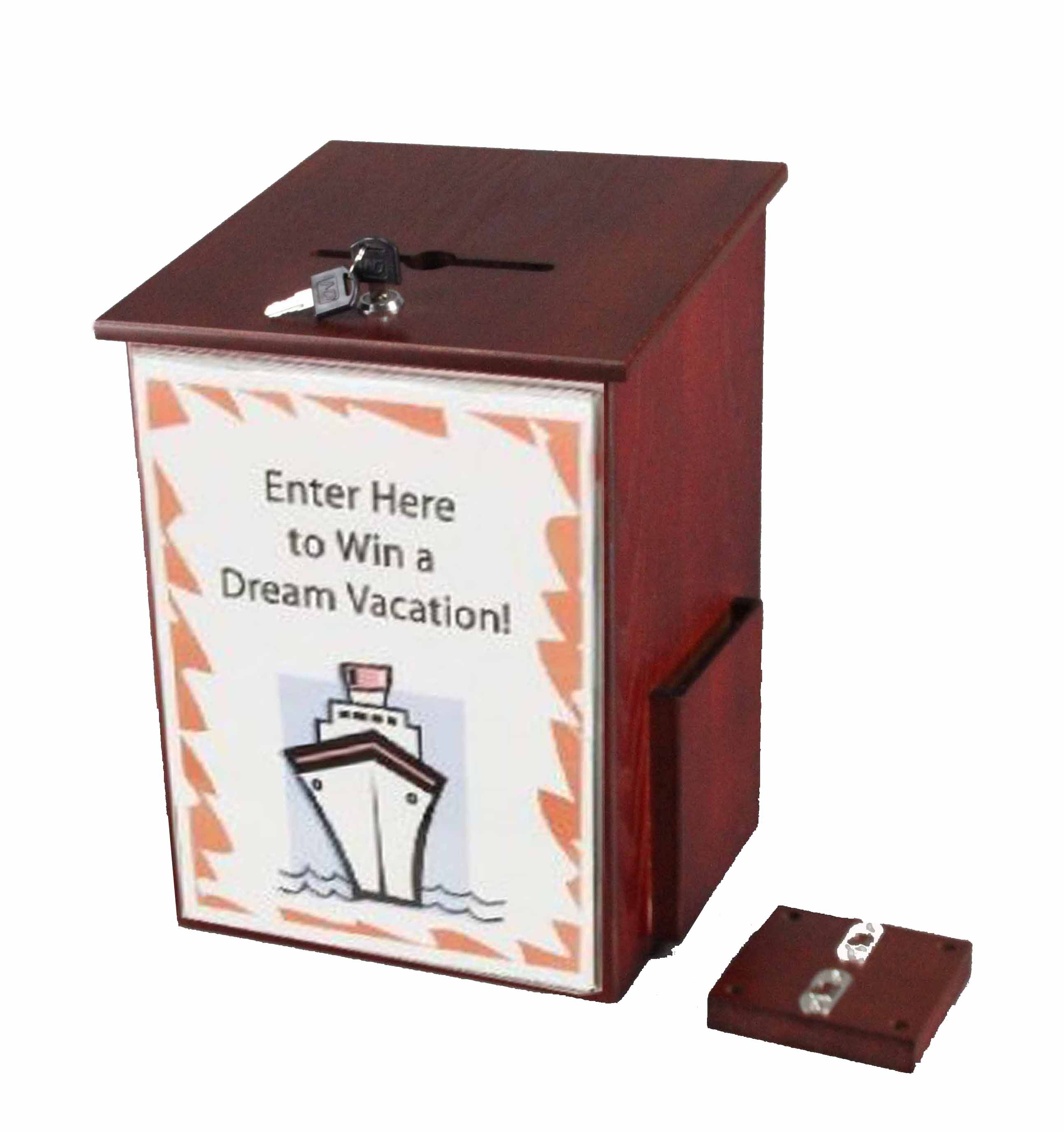 Acrylic Box Rm : Donation box tithing suggestion ballot with