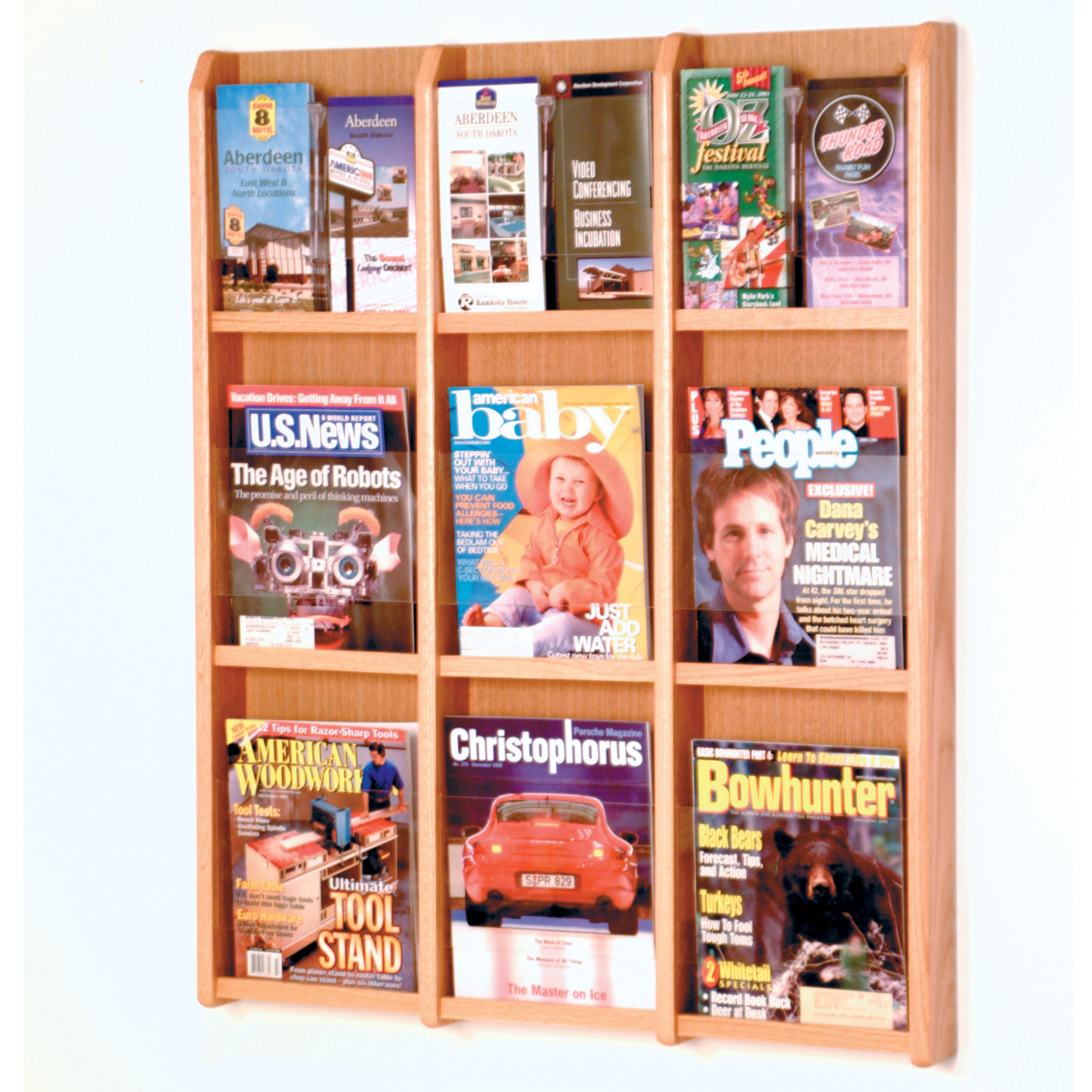 racks imposing wall mounted magazine all mount piece wooden cordial manly reviews supple rc rack also oak