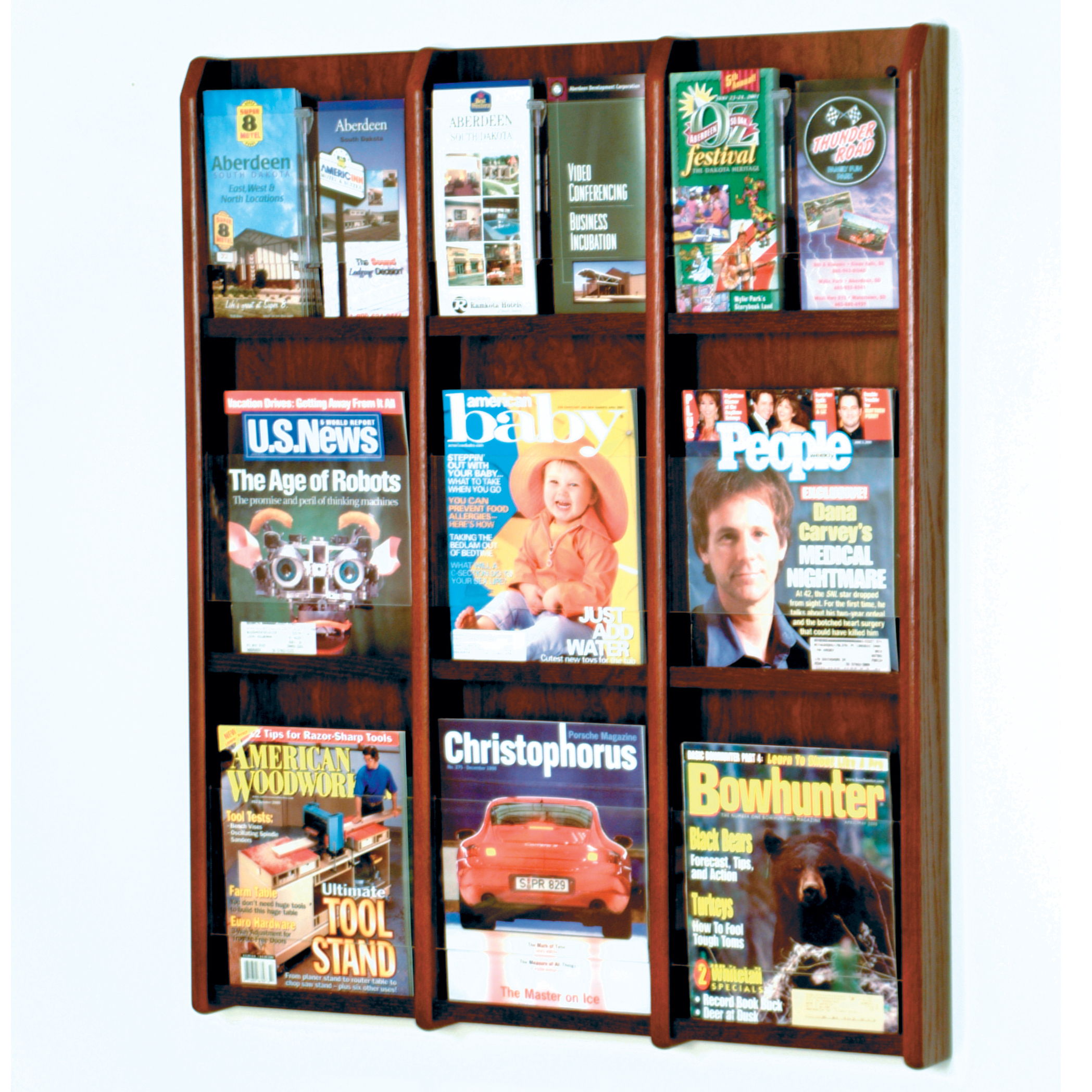 acrylic mount and leaflets pin clear holding wall dispensers rack leaflet brochure