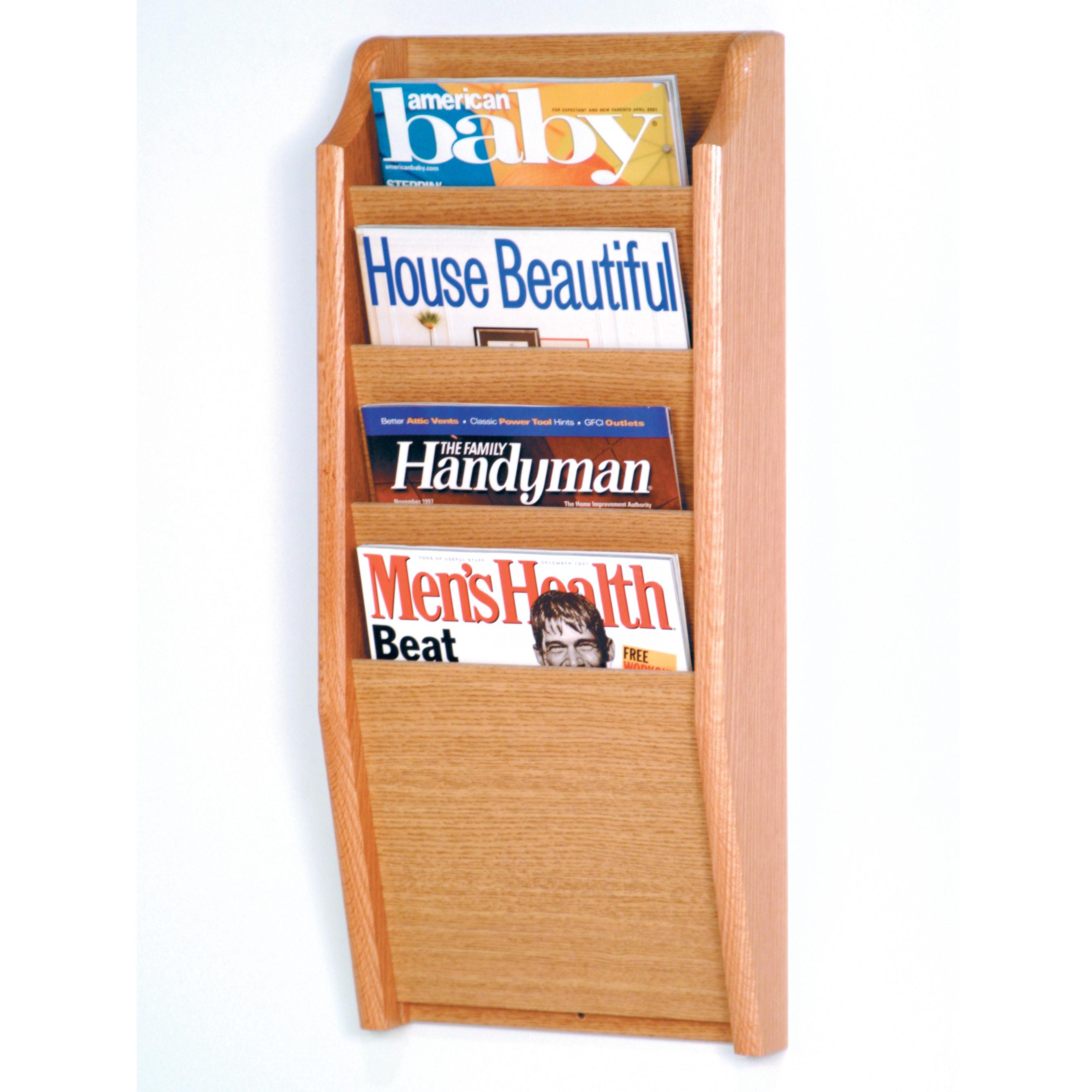 mount wall bathroom sewuka holder organizer co rack mounted uk wooden magazine