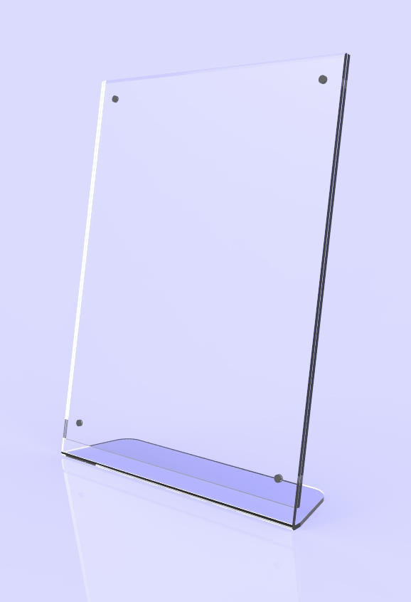 10770 clear acrylic picture frame plexiglass desktop sign holder photo display ebay. Black Bedroom Furniture Sets. Home Design Ideas