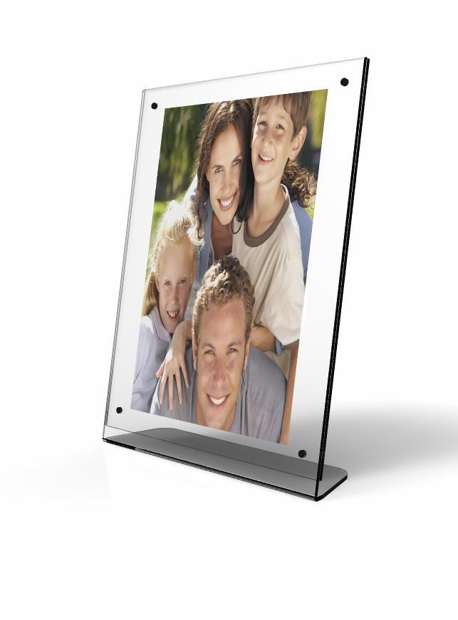 10770 Clear Acrylic Picture Frame, Plexiglass Desktop Sign Holder ...