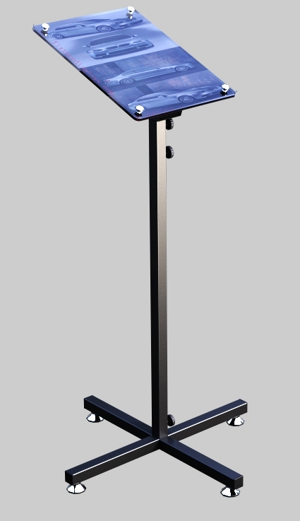 adjustable acrylic poster frame sign holder with metal