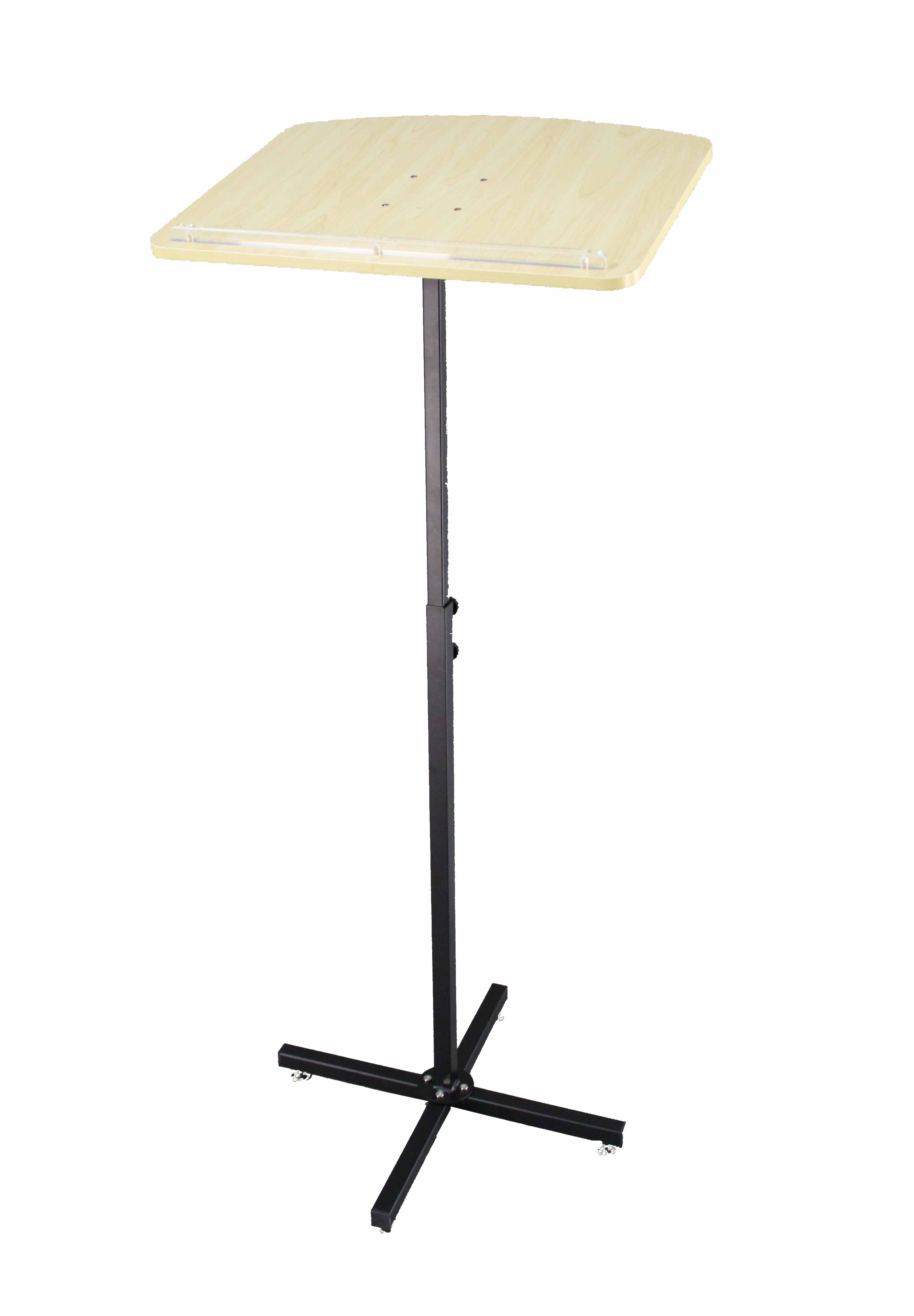 Wood Lectern Adjustable Height Metal Stand Podium Portable