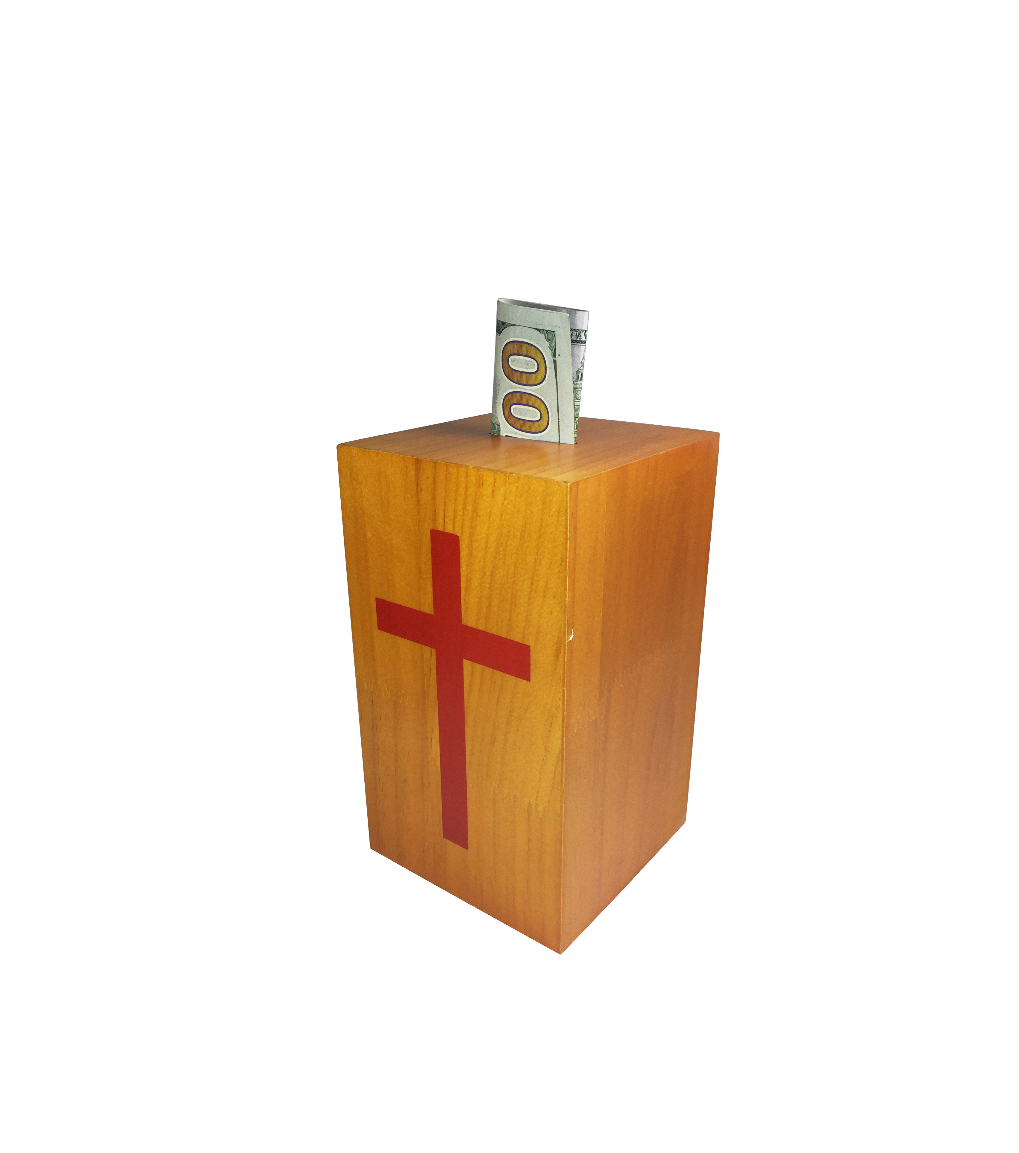 Wood Collection Donation Box Church Offering Coin ...