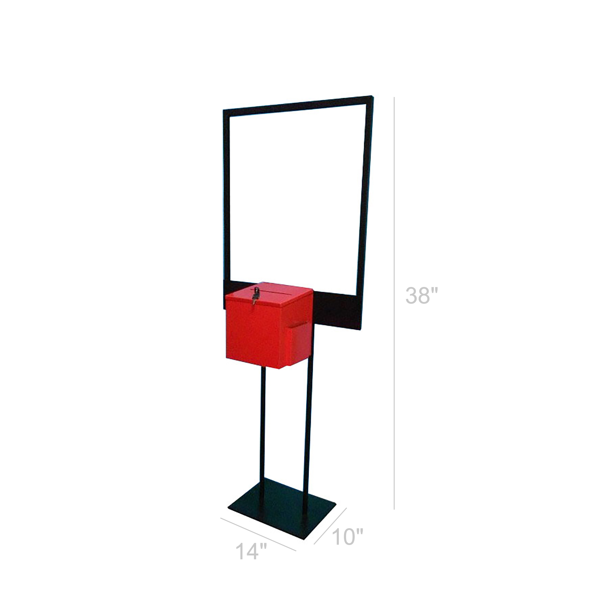 Poster Stand Floor standing Donation Box Stand Fundraising Awarenewss Sign 11063