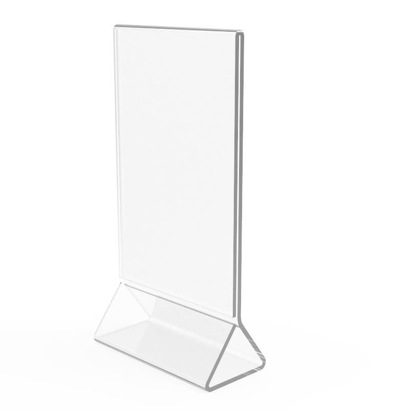 Pack Clear Acrylic Plexi Table Tent Frame Photo Desert Sign Holder - Acrylic table tent holders
