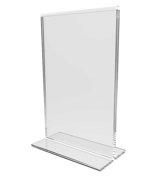 Clear Acrylic Table Tent Frame Tabletop Photo Frame Menu