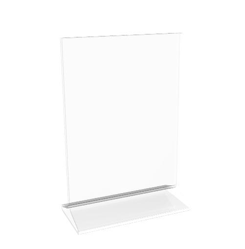 4x6 clear sign holder acrylic photo frame plexiglass menu holder picture frame ebay. Black Bedroom Furniture Sets. Home Design Ideas